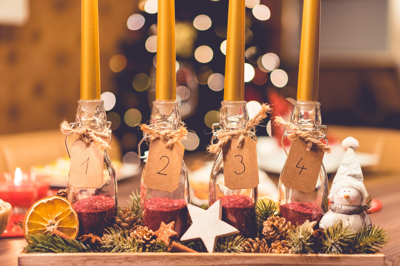handmade-diy-advent-candle-picjumbo-com